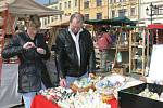 Velikonoční jarmark lidových řemesel na Velkém náměstí v Kroměříži