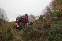 Nehodu na hlavním silničním tahu buchlovskými kopci museli ve středu před jednou hodinou odpoledne řešit policisté a hasiči.