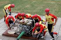 v Roštění se konala soutěž hasičských družstev v požárním útoku.