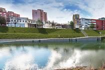 Vizualizace přístaviště na řece Moravě v Kroměříži