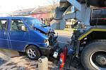 Viníkem dopravní nehody byl zahraniční řidič, který nadýchal 1,3 promile alkoholu.