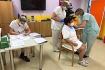Očkování proti onemocnění covid-19 v Sociálních službách města Kroměříž.