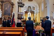 Pohřeb pětatřicetiletého Jaroslava Fily, dobrovolného hasiče z Koryčan na Kroměřížsku, který 15. září 2021 tragicky zahynul při výbuchu plynu v rodinném domě v Masarykově ulici v Koryčanech.