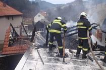 Požár kůlny v Rajnochovicích.