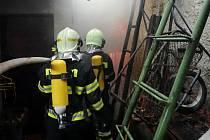 Požár rodinného domu v Soběsukách na Kroměřížsku