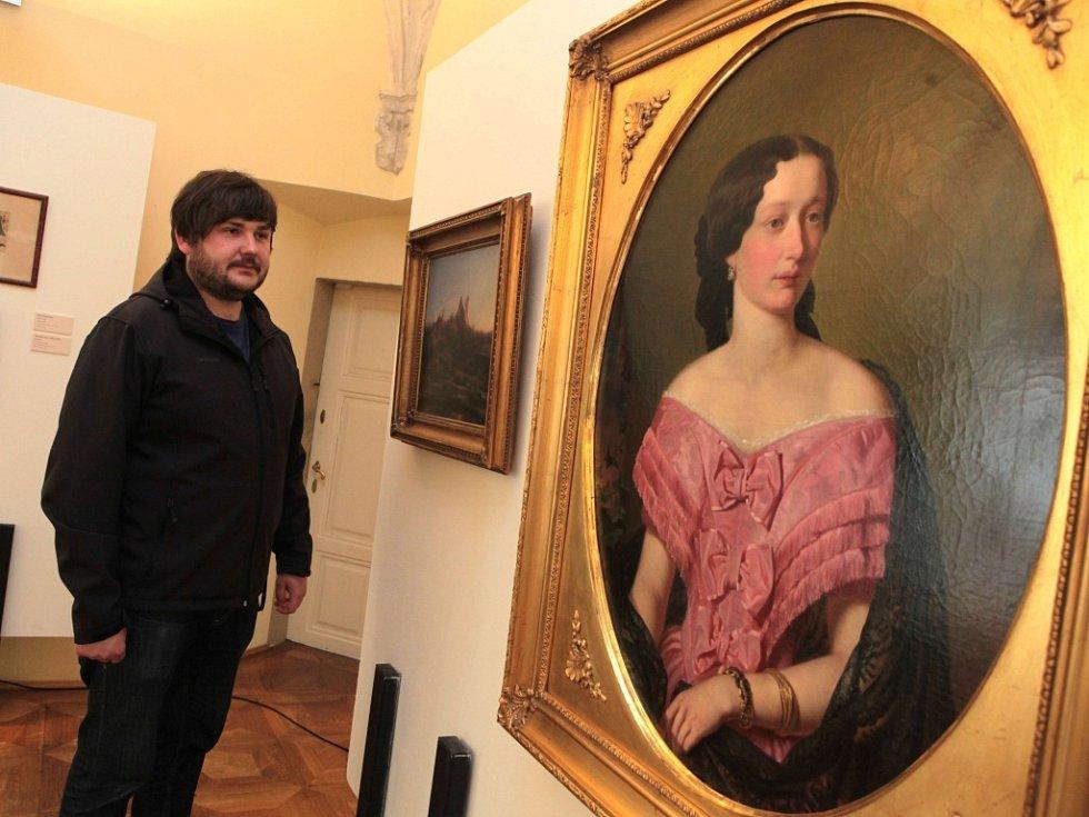 Výstava Mánes na zámku v Holešově.