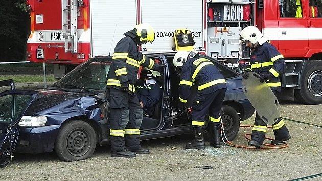Zábavné odpoledne s dobrovolnými hasiči se v neděli 2. července konalo v Chomýži