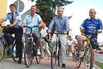 Slavnostní otevření cyklostezky v Chropyni.