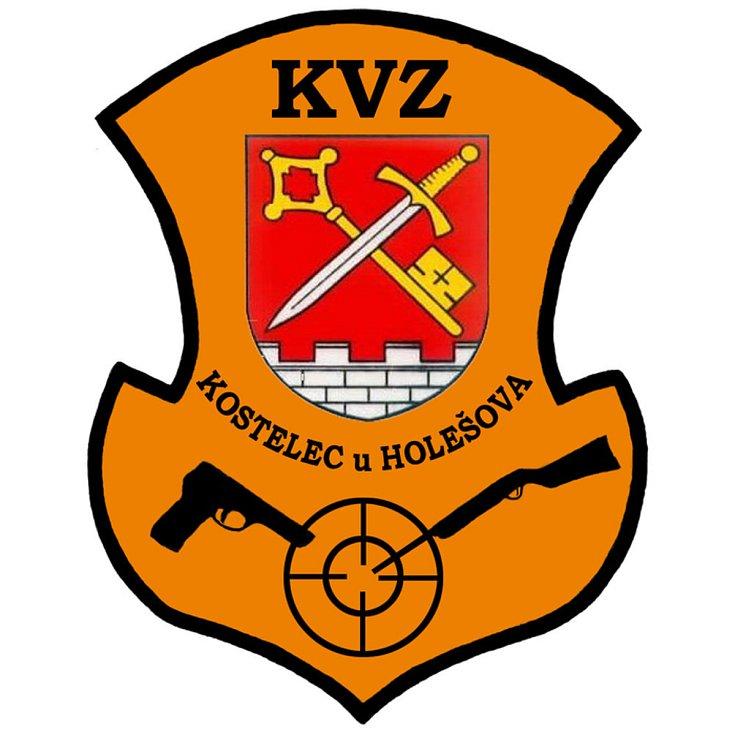 Kostelec u Holešova, srpen 2021. Klub vojáků v záloze Kostelec u Holešova, znak.