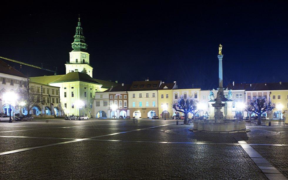 Vánoční strom a výzdoba v Kroměříži.