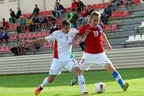 Fotbal Czech Republik U18: Hungary U18 v Kroměříži.
