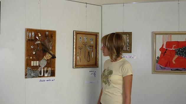 Společná výstava výtvarníků z Holešovska je do poloviny září k vidění v Městské galerii v Holešově.