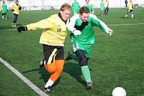 Fotbalisté Míškovic (ve žlutém) a Lubné. Ilustrační foto