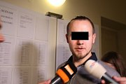 Obžalovaný Lukáš J. u kroměřížského soudu