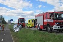 Dopravní nehoda v Holešově.