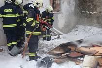Požár ve stolařské dílně v Blazicích.