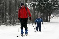 Běžci na lyžích na Trojáků