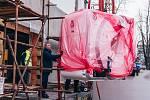 Stěhování nové magnetické rezonance do kroměřížské nemocnice