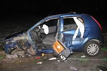 Nehodu nákladního a osobního auta řešili v pondělí 16.1. večer policisté a hasiči mezi Břestem a Říkovicemi. Řidička Fiatu Punto při ní utrpěla vážné zranění, zásah navíc záchranářům zkomplikovali netrpěliví řidiči.