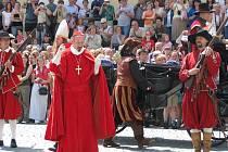 Oslavy v Kroměříži za účasti kardinála Dietrichsteina