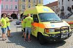 Testování na HIV v sanitce ČSAP v Kroměříži
