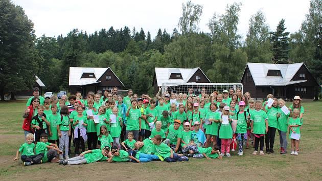 SVČ TYMY organizovalo velký tábor v beskydském středisku Retaso.