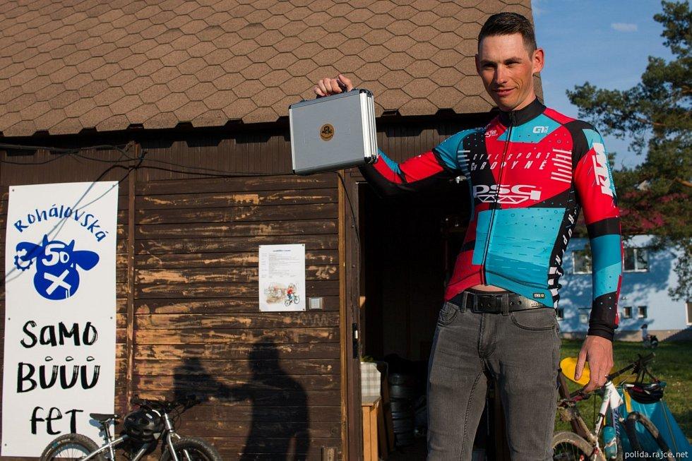 biker Tomáš Strnka, virtuální Rohálovská padesátka 2021