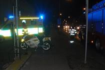 Dopravní nehoda motorkáře v Kroměříži.