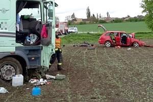 Tragická nehoda mezi Jarohněvicemi a Šelešovicemi, 13. května 2021