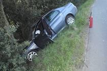 Brzy ráno havarovala u Kvasic dvě auta