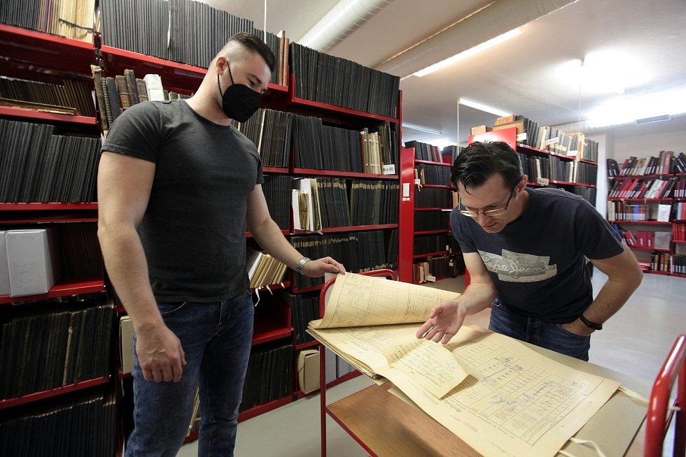 Státní okresní archiv Kroměříž. Sčítací operáty. Badatelé se s nimi setkávají už jen v digitalizované verzi.