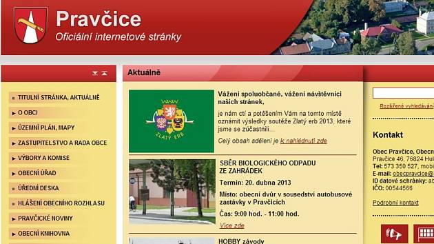 Web Pravčic