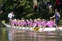 Festival Dračích lodí na Dlouhém rybníku v Kroměříži