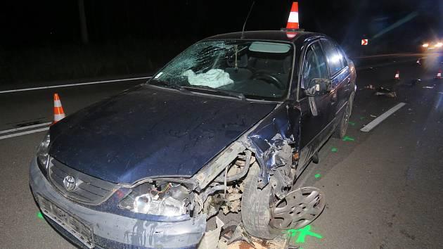 Dopravní nehoda osobního automobilu s motorkou v Zástřizlech