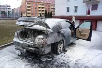 Vyhořelé auto