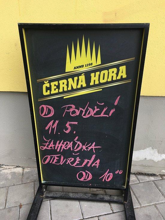 Zahrádka pohostinství Celnice v Hulíně.