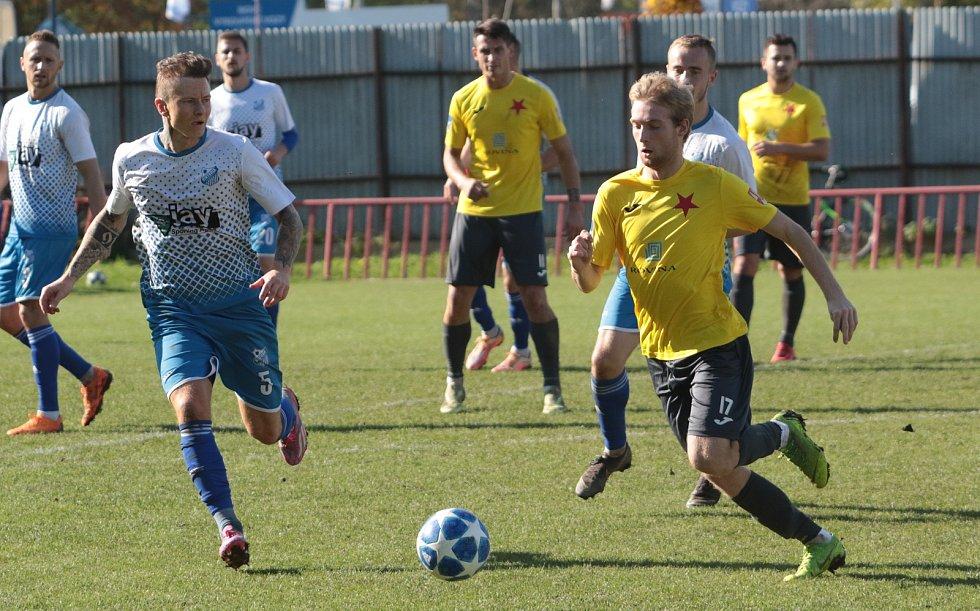 Fotbalisté Kroměříže (ve žlutém). Ilustrační foto