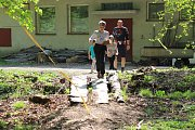 Trénink Spartan kids v holešovské zámecké zahradě