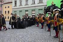 Natáčení Marie Terezie v Kroměříži, 6. května 2021.
