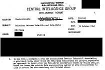 Z archivů CIA: V archivech, které letos zpřístupnila na svém webu americká zpravodajská služba CIA, nechybějí ani informace o střední Moravě.