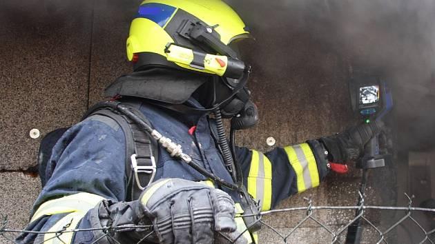 Požár propukl v kotelně rodinného domu v Bařicích.
