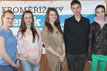 Studenti kroměřížsho Arcibiskupského gymnázia navštívili v pátek 21. března redakci Kroměřížského deníku.