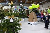 O víkendu se kroměřížské výstaviště Floria ponořilo do Vánoční pohody. Kromě Betlémů a stolních her děti pobavil i kouzelník a bublinová show.