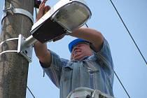 Oprava osvětlení v Šelešovicích