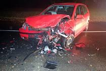 U Žeranovic bourala dvě auta, naštěstí bez zraněných