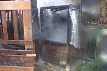 Požár udírny ve Zdounkách
