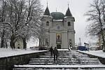 Zima na Svatém Hostýně. Ilustrační foto