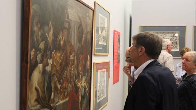 Vernisáž výstavy o biskupu Karlovi z Lichtensteinu-Castelcornu na Arcibiskupském zámku v Kroměříži.