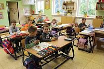 Třída prvňáčků ze Základní školy v Žeranovicích s paní učitelkou Mgr. Petrou Smolovou