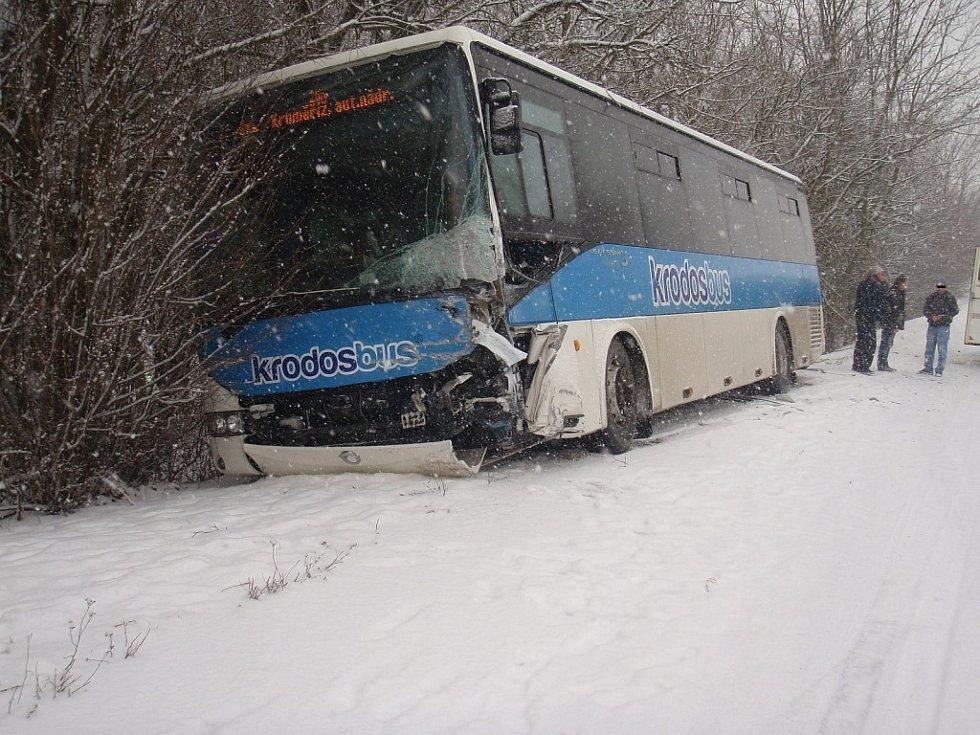 Dopravní nehoda u Kvasic na Kroměřížsku.